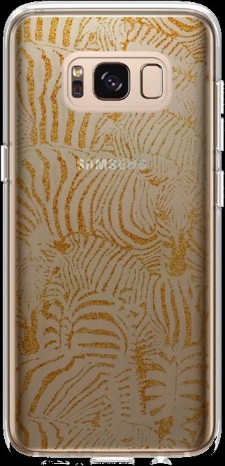 Galaxy S8+ Design Case - Zebra Glitter