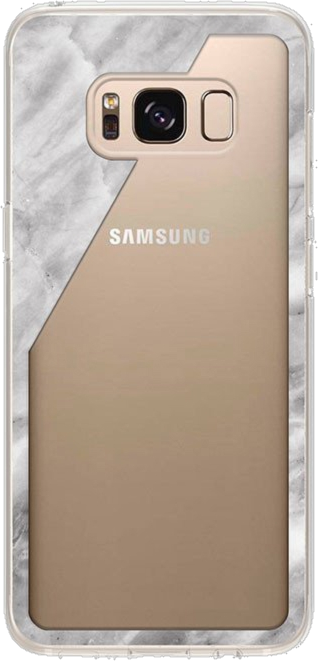 Galaxy S8+ Marble Clear Case