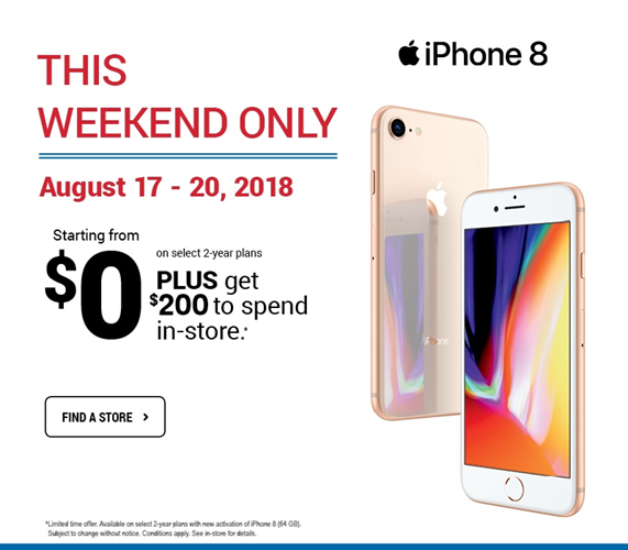 iPhone 8 - Starting from $0