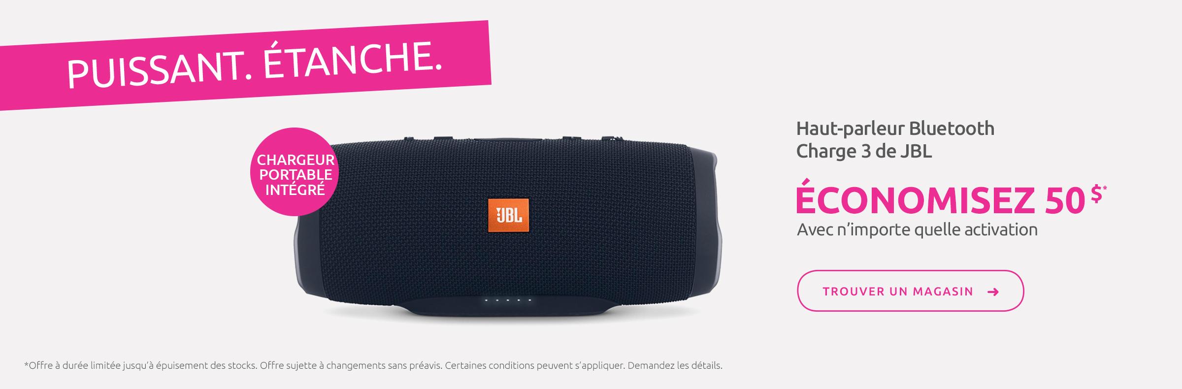 Haut-parleur Bluetooth Charge 3 de JBL