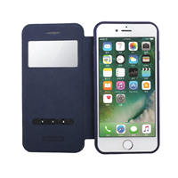 iPhone 6 - Nouske S-View Window Flip Cover - Navy Blue