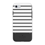 Kate Spade iPhone 6S KSNY Hardshell Stripe Card Case - Black / White