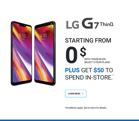 LG G7 ThinQ Get $50 to Spend in-Store