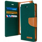 Goospery iPhone 7 Canvas Wallet - Green