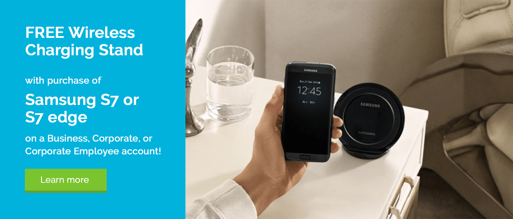 Free Wireless Charging Pad with Galaxy S7 or S7 edge