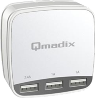Qmadix Triple USB Qmadix White 4.4A (22W) Travel Charging Hub