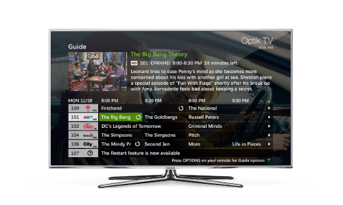 TELUS Optik TV Programming Guide