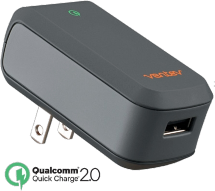 Ventev Quick Charge Qualcomm USB and Micro USB Wallport Charger