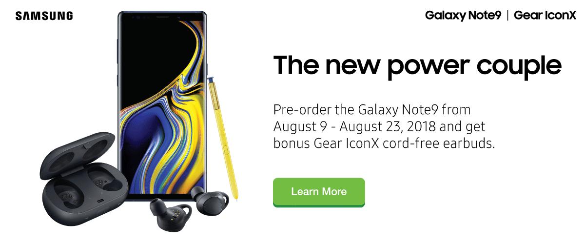 Pre-order Samsung Galaxy Note9
