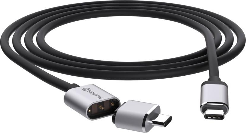 Breaksafe Magnetic USB Type-C Breakaway Power Cable - Black/Gray