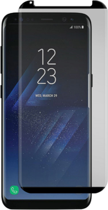 Galaxy S8+ Black Ice Cornice 2.0 Full Adhesive Curved Tempered Glass Screen Guard