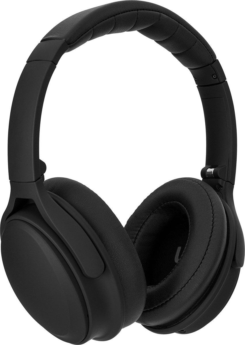 OE400 Active Noise-Cancelling Over-Ear Bluetooth Headphones - Black