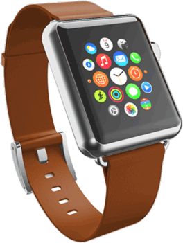 Apple Watch  Premium Leather 42mm Band - Chestnut