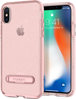 Spigen iPhone X Crystal Hybrid Glitter Case with Kickstand