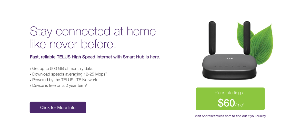 Stay Connected - TELUS High Speed Internet