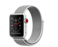 APPLE WATCH S3 SILVER/SEASHELL SPORT LOOP