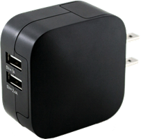 KEY 3.4A Dual Port Wall Charger