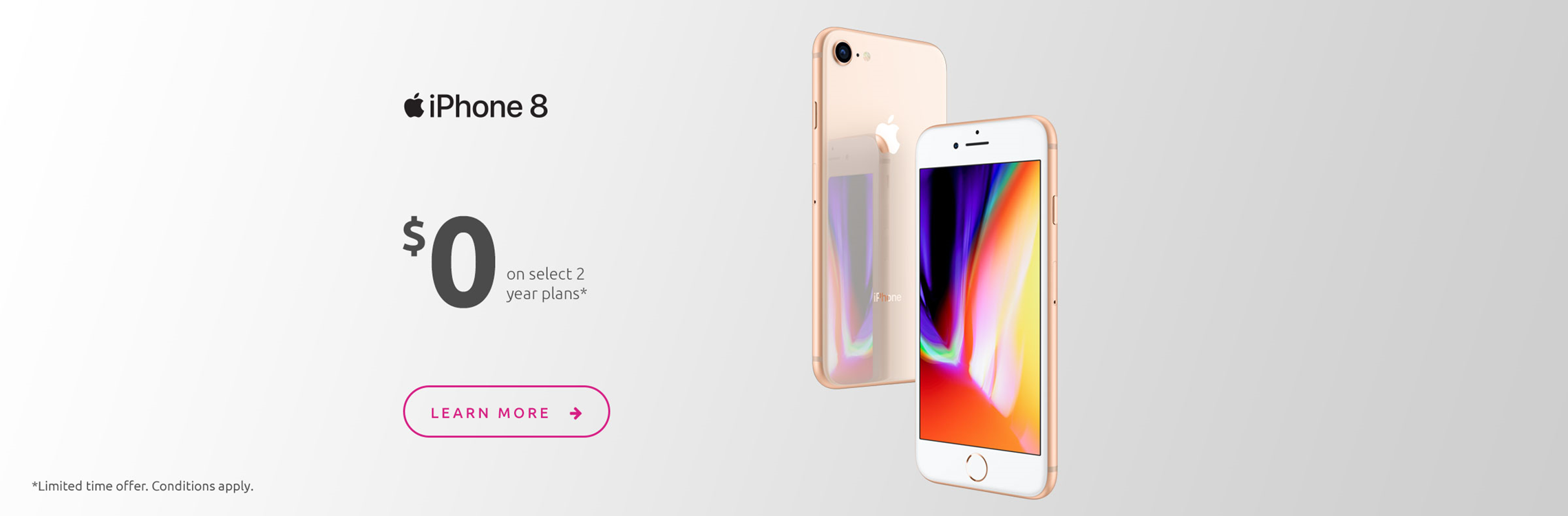 iPhone 8 $0 on select 2-year plans