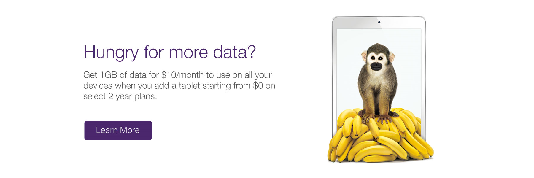 Get 1 GB of Tablet Data for $10/mth
