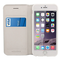 iPhone 6 - Nouske - S-View Window Flip Cover - Silver Space Grey