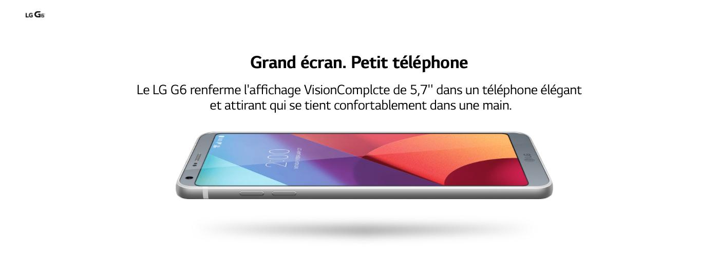 Big Screen. small Phone. LG G6