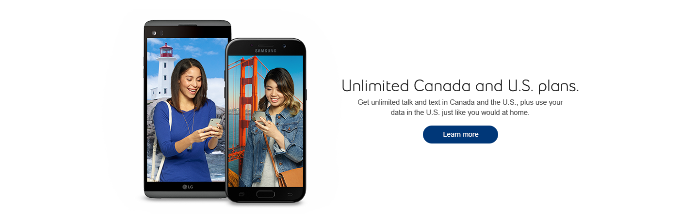 Unlimited Canada and US plans