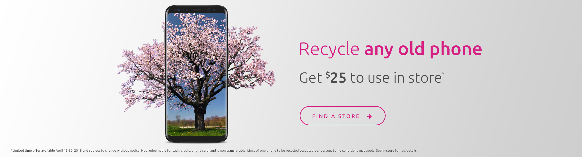 Recycle any old phone - get $25 to use in-store