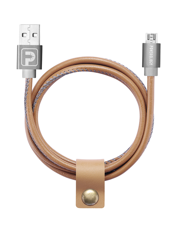 Powerology Premium Micro Cable - Leather