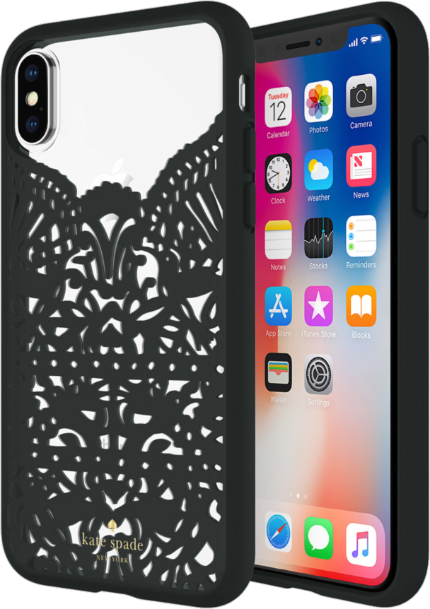purchase cheap 1d215 2cec6 Kate Spade iPhone XS/X Lace Cage Case Price and Features