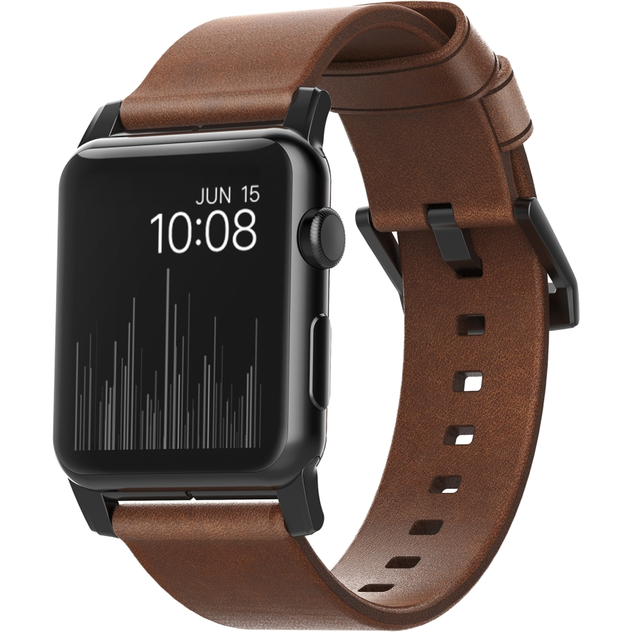 Apple Watch 42mm Leather Wristband - Brown