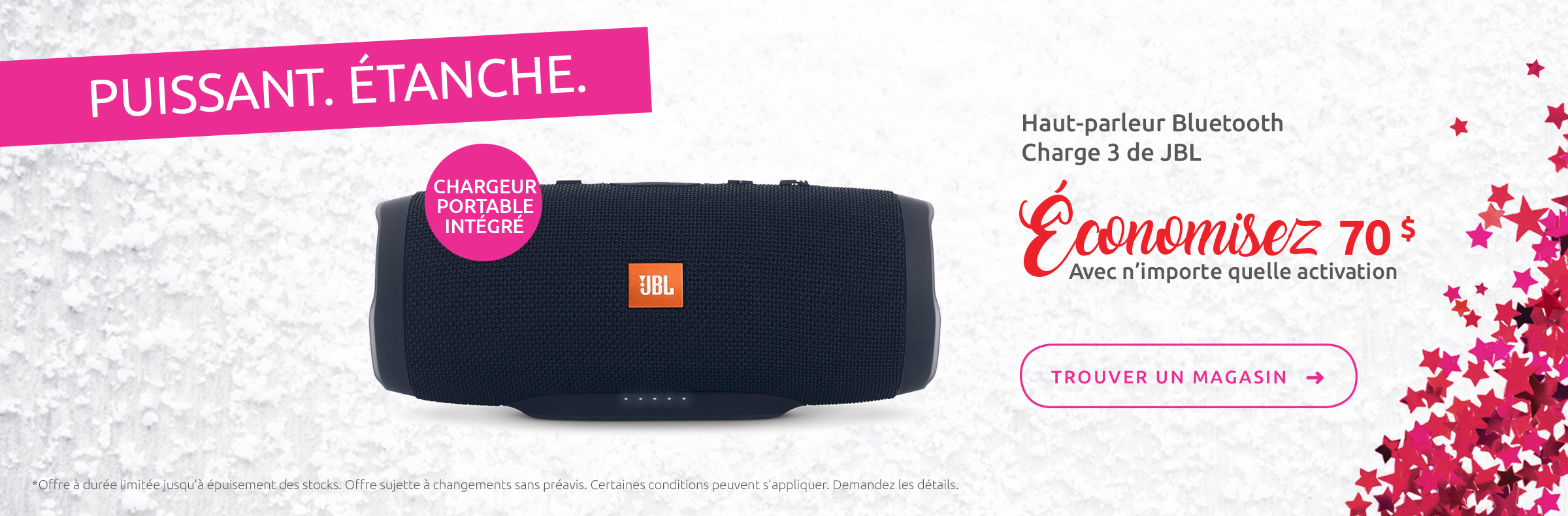 Haut-parleur Bluetooth Charge 3 de JBL