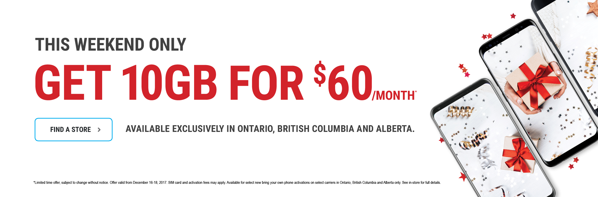 Get 10GB for $60 per month