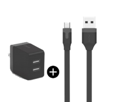 Muvit microUSB 2.4A Wall Charger