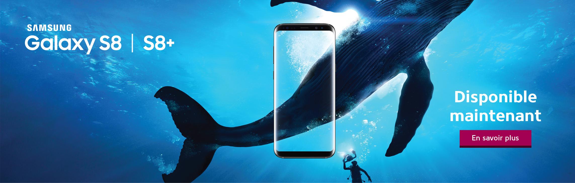 Le Samsung Galaxy S8 et S8+ sont disponibles maintenant chez WOW! boutique mobile