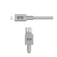Puregear Braided 4ft Lightning Cable Grey