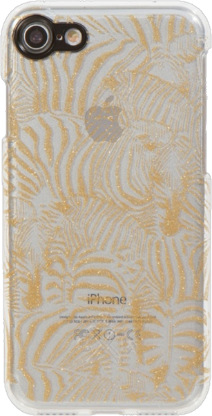 iPhone 8/7 Design Case - Zebra Glitter