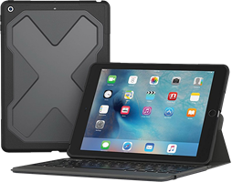 Zagg iPad 9.7 (2018 / 2017) Rugged Messenger Backlit Bluetooth Keyboard Case