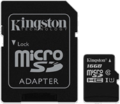 Kingston 16GB UHS-I Class 10 microSDHC Canvas Select Flash Card