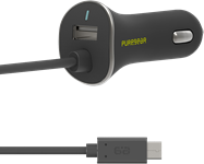 PureGear USB Type-C 15w/3a Car Charger Devices