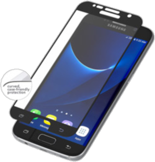 Zagg Galaxy S7 InvisibleShield CURVE Case Friendly Screen Protector