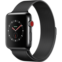 APPLE WATCH S3 BLACK STAINLESS STELL/SPACE BLACK MILANESE LOOP 42MM