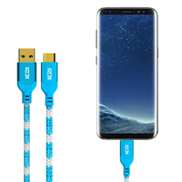 ICZI Braided 3ft USB A to C Cable Blue