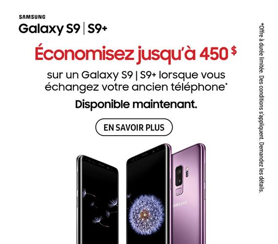 Samsung Galaxy S9 Maintenant disponible