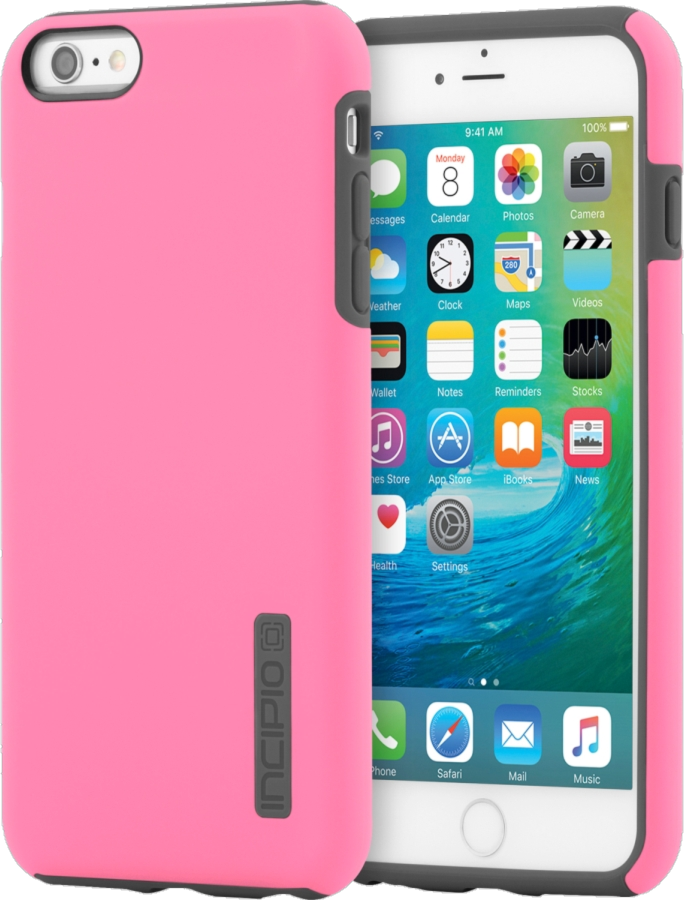 iPhone 6/6s Plus DualPro Case - Highlighter Pink/Charcoal
