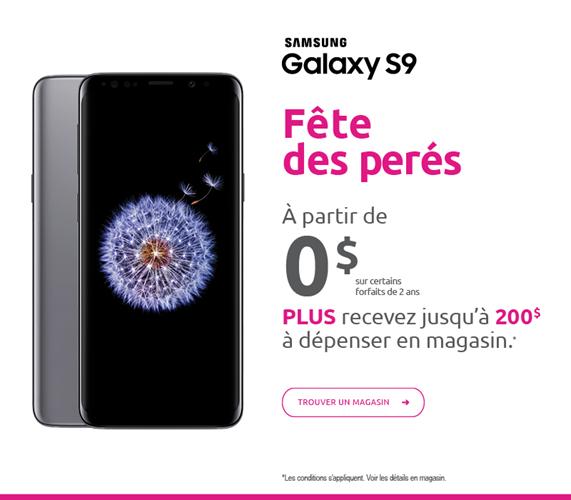Galaxy S9 - a partir de 0 $