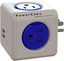PowerCube Original 4-Outlet Power Bar with 2 USB Ports