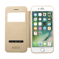 iPhone 6 - Nouske - S-View Window Flip Cover - Gold