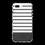 Kate Spade iPhone 7+ KSNY CreditCard Stripe Case - Black/White