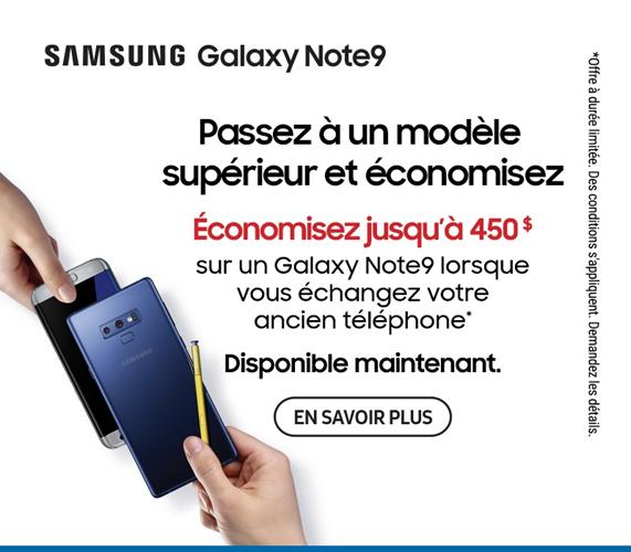 Samsung Galaxy Note9 echanger