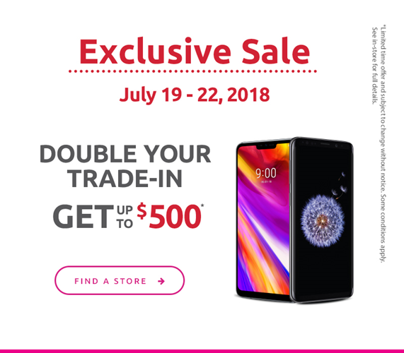Double your trade-in get up to $500